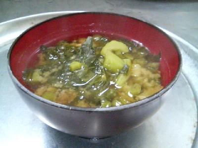 野沢菜の味噌汁