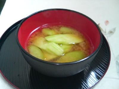 きゅうりの味噌汁