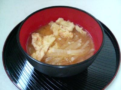 大根とかきあげの味噌汁