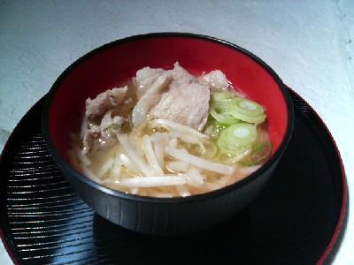 豚肉とモヤシの味噌汁