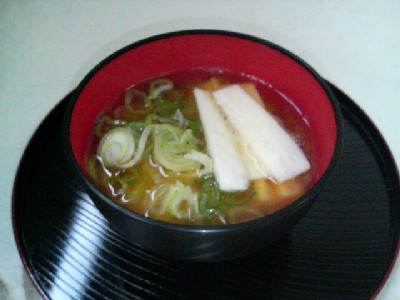 山芋の味噌汁