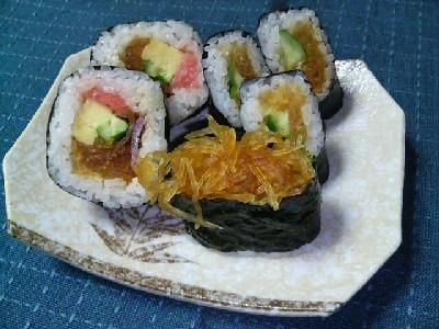 なますかぼちゃのお寿司