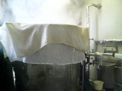 米の蒸かす釜