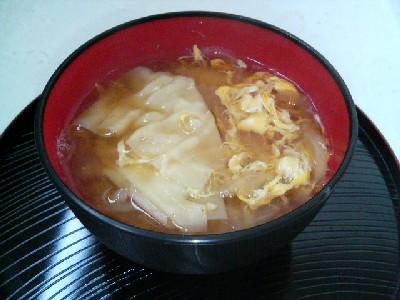 玉子ワンタン味噌汁
