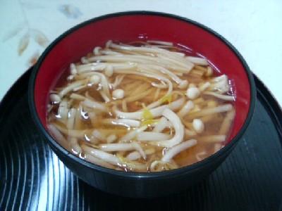 えのきとモヤシの味噌汁