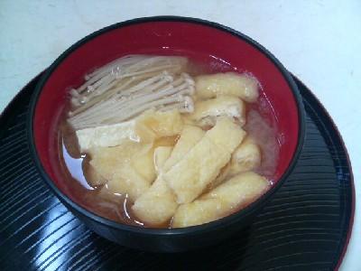 えのきと油揚げの味噌汁
