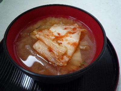 キムチの味噌汁