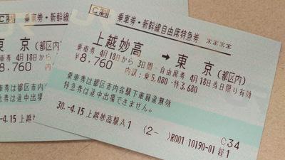 上越妙高駅 キップ