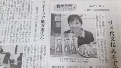 味噌テリヤキソース「みそてりっ」 読売新聞