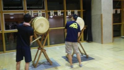 直江津祇園祭 太鼓と笛の練習