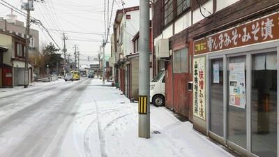 初冠雪 雪 直江津