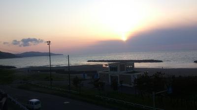 直江津の夕日