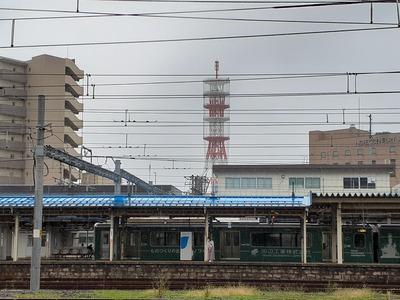雨の直江津駅